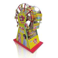 Suporte de tela corrugada giratória do Waterwheel, exibição de papel PDQ