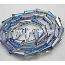 Pagode Form Kristall Glasperlen, Großhandel Lampe Perlen, Mode Turm Perlen