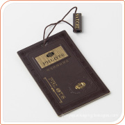 Custom thick paper tag string seal hang tag for garment