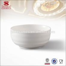Tazón de cerámica blanco pequeño barato de Chaozhou, cuenco de sopa barato para el hotel de 5 estrellas