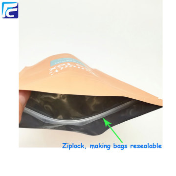 Ziplock foil plastic coffee packaging custom tea bags
