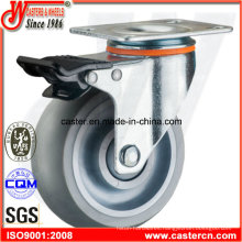Swivel Caster with Gray Super Synthetic TPR Wheel