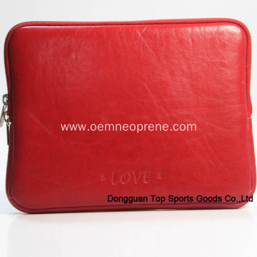 Red Leather ipad sleeves designer wholesale for lady