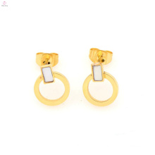 New design stainless steel gold loop earrings, gold circle earrings for women jewelry