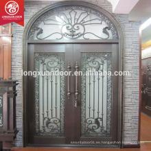 Diseños exteriores de la puerta de la puerta del hierro labrado de los nuevos diseños de la mejor calidad