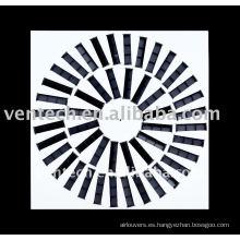 Difusor de aire de ventilación remolino