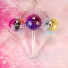 Girly Eyelash Packaging Candy Sweet Lollipop Case For 5D Mink Lashes Box Own Logo Customize Bowknot Low Minimum Lash Branding