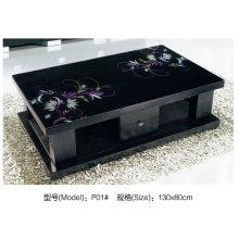 Современная серия черный стеклянный журнальный столик с ящиком (P01)