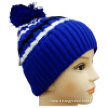 Knitted Beanie with POM POM NTD1603