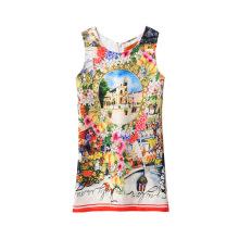 Оптом Китайские Девочек Платье Kid Красочные Печатные 7,6,5,4,3,2 Летняя Девочка Платье