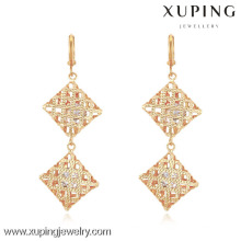 90630 xuping dames bijoux or boucles d'oreilles inlay zircon