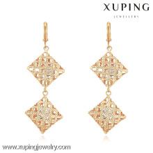 90630 xuping модели женских ювелирных изделий золото инкрустация циркон серьги