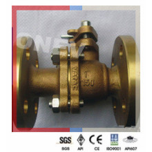 Floating RF Flanged Brass Ball Valve