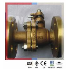 Válvula de esfera de bronze de extremidade de classe 150