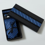 Black Scarf Tie Gift Paper Packing Box
