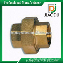 competitive price forged chrome plating brass fittings union for pipe fittings