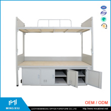 China Mingxiu Low Price Metal Double Bunk Bed / Bunk Bed with Locker