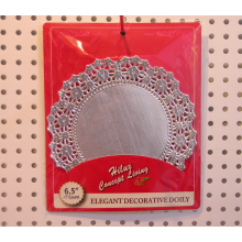 Foil Round Doily 6.5inch Silver
