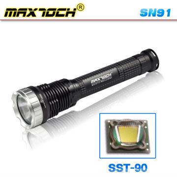 Maxtoch SN91 luz 26650 LED alta potência longo alcance tocha recarregável