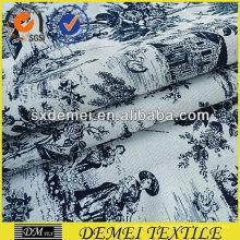 tela de tapicería para diseño floral sofás
