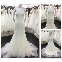 Los vestidos nupciales formales por encargo de la playa del amor diseñan los vestidos de boda 2016 A089 de la sirena Vestido De Casamento Alibaba del cordón
