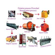 Usine de traitement de minerai d'or de cuivre de machine de réservoir de flottation