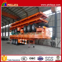 Semi-remorque de conteneur de transport à plat de 3 axes de 40 pieds
