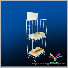 Custom made store metal display wire book rack
