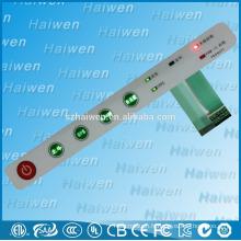Interrupteur à membrane à rétroéclairage LED avec adhésif 3M468