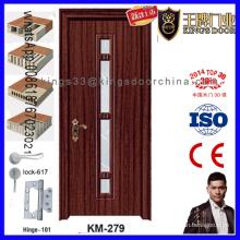 Entrada Dormitorio Vidrio insertado Puerta de madera