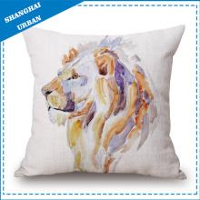 Imitación de lino almohada almohada animal