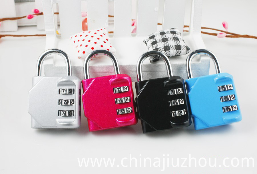Colorful 4 Digit Combination Lock
