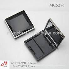 MC5276 Роскошная с ромбовидной крышкой квадратный пластиковый контейнер для порошка для румян с зеркалом