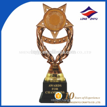 Most popular star style plastic fashionable trophy and awards