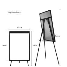 Höhenverstellbares magnetisches Whiteboard mit Flipchart