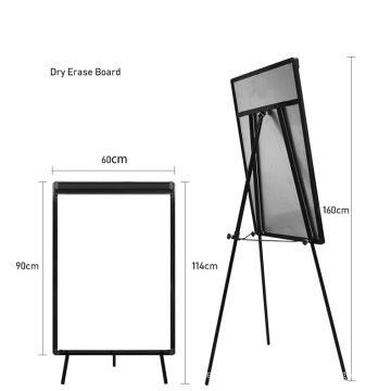 Height Adjustable Magnetic Flip Chart Whiteboard