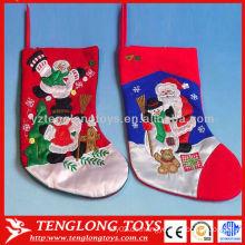 Hochwertige Weihnachtsdekoration liefert Stickerei Schneemann Strumpf