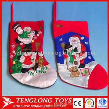Высокое качество рождественские украшения поставок вышивать рождественские снеговик чулок