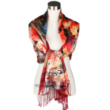 Wholesale Colorful Ladies 100% Silk Neck Scarf