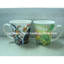 V-Shaped Ceramic Mugs, 12oz Ceramic Mugs