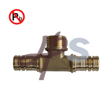 lead free brass pex female wallplate elbow