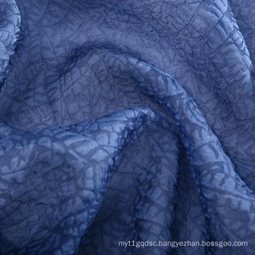 2021 New design Premium 11MM Blue 60%SILK 40% NYLON Chinese Silk Brocade cashmere silk blend  Fabric