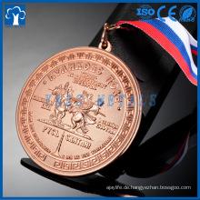 Wettbewerb kundenspezifische 3D-Auszeichnung Metall laufende Sportmedaille mit Band