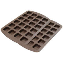 Molde de doces de chocolate Silicone vendedora de Amazon Muffin Cups 24-Cavity