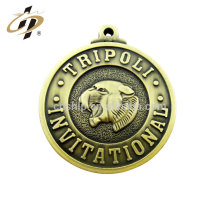 Wholesale custom make your own logo antique bronze coin pendant