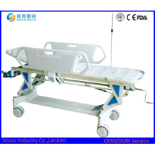 Manual Height Adjustable Hospital Emergency Transport Folding Stretcher