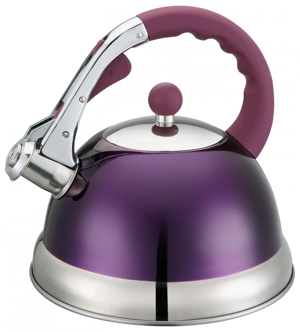 Purple Handle Whistling Kettle