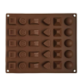 Molde flexível do silicone do chocolate de 30 cavidades