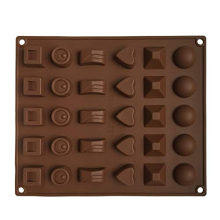 Molde de silicona de chocolate 30 cavidades flexible