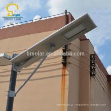 Grande projeto ip66 80w novo modelo de luz de rua solar tudo em um a partir de Yangzhou Jiangsu